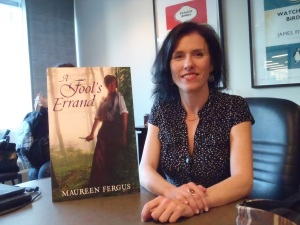 Maureen in the Razorbill Canada offices last fall, picture care of scififanletter.blogspot